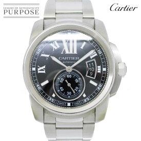カルティエ Cartier カリブル ドゥ カルティエ W7100016 メンズ 腕時計 デイト ブラック 文字盤 オートマ 自動巻き ウォッチ 【中古】