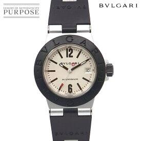 【電池交換 済み】 ブルガリ BVLGARI アルミニウム AL29TA レディース 腕時計 デイト シルバー 文字盤 ラバー クォーツ ウォッチ Aluminum 【中古】