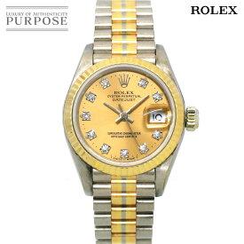 ロレックス ROLEX デイトジャスト トリドール 69179G BIC L番 レディース 腕時計 ダイヤ K18 WG YG PG 750 オートマ 自動巻き ウォッチ 【中古】