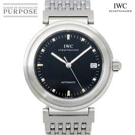 IWC ダヴィンチ SL IW3528 ヴィンテージ メンズ 腕時計 デイト ブラック 文字盤 オートマ 自動巻き インターナショナル ウォッチ カンパニー 【中古】