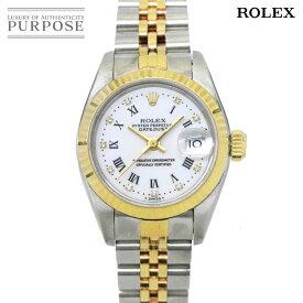 ロレックス ROLEX デイトジャスト コンビ 69173G X番 レディース 腕時計 10P ダイヤ ホワイト 文字盤 K18YG イエローゴールド オートマ 自動巻き ウォッチ 【中古】