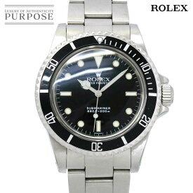 ロレックス ROLEX サブマリーナ ノンデイト 5513 8番 ヴィンテージ メンズ 腕時計 ブラック 文字盤 オートマ 自動巻き ウォッチ 【中古】