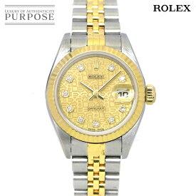 ロレックス ROLEX デイトジャスト コンビ 79173G A番 レディース 腕時計 ダイヤ コンピューター ゴールド 文字盤 K18YG イエローゴールド オートマ 自動巻き ウォッチ【中古】