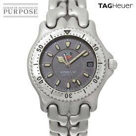 【電池交換 済み】 タグホイヤー TAG Heuer セルシリーズ プロフェッショナル WG1113-0 メンズ 腕時計 デイト グレー 文字盤 クォーツ ウォッチ Professional 【中古】