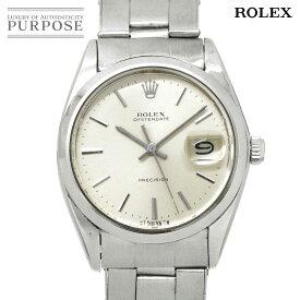ロレックス ROLEX オイスター デイト プレシジョン 6694 2番 ヴィンテージ メンズ 腕時計 シルバー 文字盤 手巻き アンティーク ウォッチ 【中古】