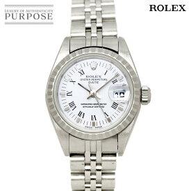 ロレックス ROLEX オイスターパーペチュアル デイト 79240 A番 レディース 腕時計 ホワイト 文字盤オートマ 自動巻き ウォッチ 【中古】