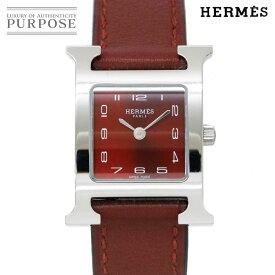 【電池交換 済み】 エルメス HERMES Hウォッチ HH1 210 レディース 腕時計 ブラウン 文字盤 クォーツ ウォッチ 【中古】