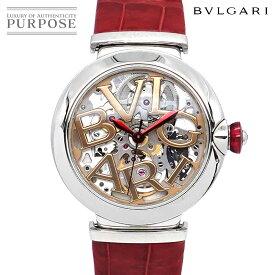 ブルガリ BVLGARI ルチェア LU33S レディース 腕時計 スケルトン ゴールド シルバー 文字盤 自動巻き オートマ ウォッチ Lvcea 【中古】