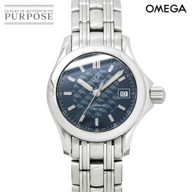 【電池交換 済み】 オメガ OMEGA シーマスター 120 ジャックマイヨール 2002 1500本限定 レディース 腕時計 2588 80 デイト ネイビー 文字盤 クォーツ ウォッチ【中古】
