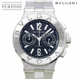 ブルガリ BVLGARI ディアゴノ クロノグラフ DG40SCH メンズ 腕時計 デイト ブラック 文字盤 自動巻き オートマ ウォッチ Diagono Chronograph 【中古】