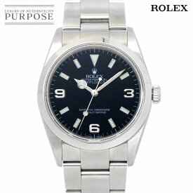 【OH 新品仕上げ 済み】 ロレックス ROLEX エクスプローラ1 114270 D番 メンズ 腕時計 ブラック 文字盤 オートマ 自動巻き ウォッチ Explorer 1 【中古】