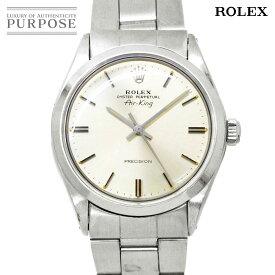 ロレックス ROLEX エアキング 5500 3番 ヴィンテージ メンズ 腕時計 シルバー 文字盤 オートマ 自動巻き アンティーク ウォッチ 【中古】
