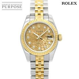 ロレックス ROLEX デイトジャスト コンビ 179173G M番 レディース 腕時計 ダイヤ コンピューター ゴールド 文字盤 K18YG イエローゴールド オートマ 自動巻き ウォッチ ROLEX Datejust 【中古】