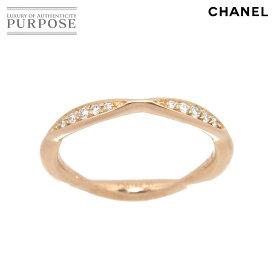 【新品仕上げ】 シャネル CHANEL カメリア ハーフ エタニティ #51 ダイヤ リング K18 PG ピンクゴールド 750 指輪 Camellia Ring【証明書付き】 【中古】