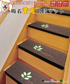 階段マット 15枚セット クッション 蓄光 夜行性 光る 足元 安全 ペット 傷がつかない 廊下 洗える おしゃれ 滑り止め すべらない インテリア 送料無料