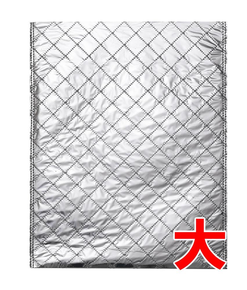 【20枚】【大】 保冷袋 平袋 薄手タイプ(内側もアルミ生地) 大サイズ 内寸法:W巾280×H高375mm