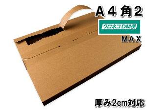 クロネコDM便 MAXサイズ メール便ケース ダンボール 段ボール 箱 A4 角2 厚み2cm対応 内寸326×234×16mm 100枚セット ※沖縄・北海道は販売不可