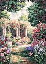 "Dimensions (ディメンションズ) クロスステッチ 刺繍キット""Floral Retreat""【並行輸入品】"
