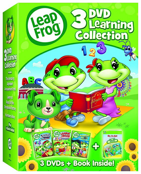 Leap Frog リープフロッグ DVD3枚+絵本 北米版DVD [並行輸入品] フォニックス入門編としてもお勧めです 知育