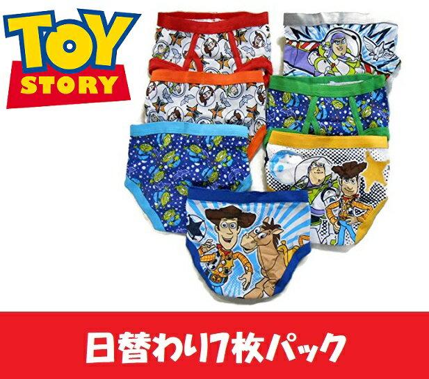 ディズニー(Disney)ピクサー トイストーリー 男の子 ブリーフ パンツ 7枚セット(並行輸入品) (2〜3歳、4歳) 下着