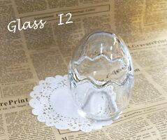 [ジョイキャンドル]ホルダーグラスI2たまご型グラス(大)(手作りキャンドル・ジェルキャンドル)