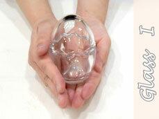 [ジョイキャンドル]ホルダーグラスIたまご型グラス(小)(手作りキャンドル・ジェルキャンドル)