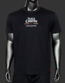 【即納】【あす楽対応】スコッティキャメロン ウィスキーラベルTシャツ ブラック M SCOTTY CAMERON WHISKY LABEL T SHIRT BLACK M 103430