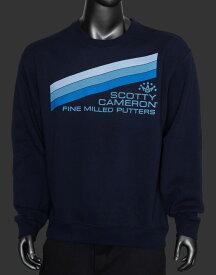 【即納】【あす楽対応】スコッティキャメロン ブルーストライプ スウェット ネイビー XL SCOTTY CAMERON BLUE STRIPE CREW NECK SWEATSHIRT NAVY XL 102515