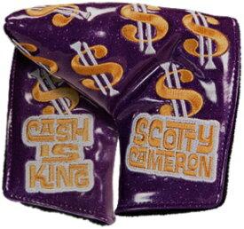 【即納】【あす楽対応】キャメロン キャッシュイズキング ミッドマレットパープル SCOTTY CAMERON 2018 CUSTOM SHOP CASH IS KING MID MALLET HEADCOVER PURPLE