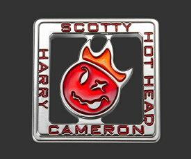 【即納】【あす楽対応】スコッティキャメロン ホットヘッド ハリーマーカーSCOTTY CAMERON 2018 CAMERON COIN HOT HEAD HARTY BALL MARKER RED 101861