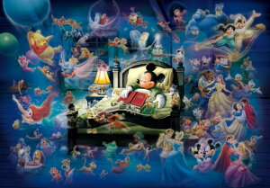 【在庫あり】ジグソーパズル 108ピース ディズニー ミッキーのドリームファンタジー 光るジグソー(18.2x25.7cm)(D-108-997) テンヨー 梱60cm t104