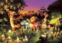 ディズニー くまのプーさん 1000ピース ジグソーパズル ディズニー 森のキャンドルパーティー 光るジグソー(51x73.5cm)(D-1000-270)[テ...