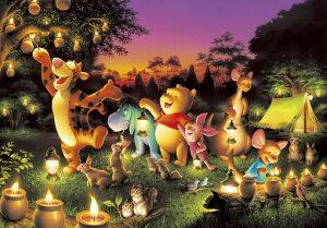 【在庫あり】ジグソーパズル 1000ピース ディズニー くまのプーさん 森のキャンドルパーティー 光るジグソー(51x73.5cm)(D-1000-270) テンヨー 梱80cm t100