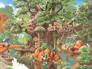 【在庫あり】ジグソーパズル 1000ピース ディズニー ふしぎの森のツリーハウス [隠し絵](51x73.5cm)(D-1000-369) テンヨー 梱80cm t101