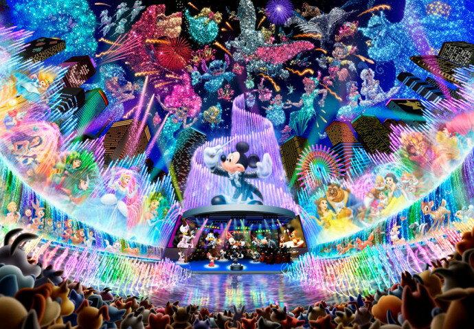 ディズニー ミッキーマウス 2000ピース ジグソーパズル ディズニーウォータードリームコンサート (73x102cm)(D-2000-604)[テンヨー] t101