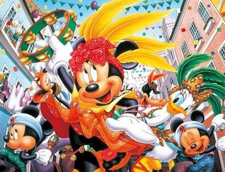 【あす楽】ディズニー ミッキーマウス ジグソーパズル プチ2 ディズニー 500スモールピース サンバカーニバル! (16.5cm×21.5cm、対応パネル:プチ2専用)(41-29)[やのまん] t100