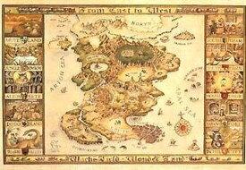 ジグソーパズル 1000ピース わちふぃーるど の地図 (50x75cm)(10-301) やのまん 梱80cm t101