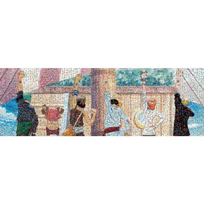 【あす楽】 950ピース ジグソーパズル ワンピース モザイクアート (仲間の印) (34x102cm)(950-27)[エンスカイ] t108