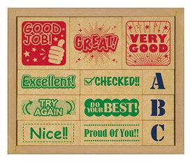 【あす楽】 スタンプ 木製英語評価印セット SOH-006(SOH-006) ビバリー 梱60cm b100