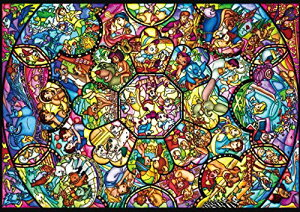 【在庫あり】ジグソーパズル 266ピース ディズニー キャラクター ピュアホワイト オールスターステンドグラス ぎゅっとシリーズ (18.2x25.7cm)(DPG-266-563) テンヨー 梱60cm t105