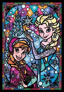【在庫あり】ジグソーパズル 266ピース ステンドアート ディズニー アナと雪の女王 アナ&エルサ ぎゅっとシリーズ(18.2x25.7cm)(DSG-266-753) テンヨー 梱60cm t101
