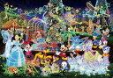 ディズニー ミッキーマウス 1000ピース ジグソーパズル 世界最小 ディズニー マジカルイルミネーション 光るジグソー(29.7x42cm)(DW-1000-...