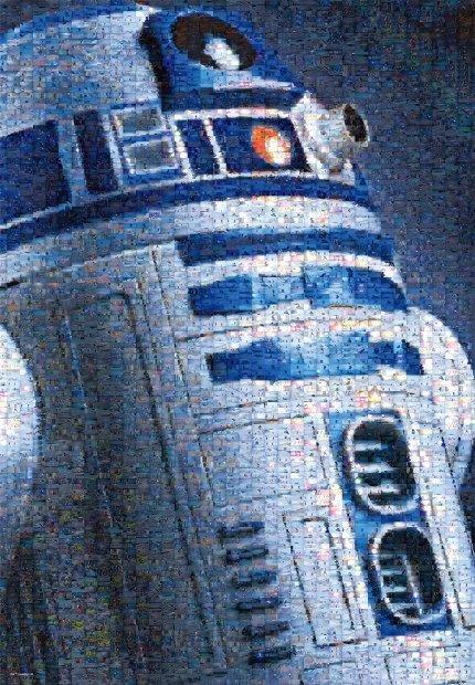 1000ピース ジグソーパズル STAR WARS R2-D2(フォトモザイク)(51x73.5cm)(W-1000-647)[テンヨー] t101