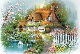 ジグソーパズル 1000ピース アンドレス オルビナス 花香るせせらぎの庭(50x75cm)(1000-773) アップルワン 梱80cm t102