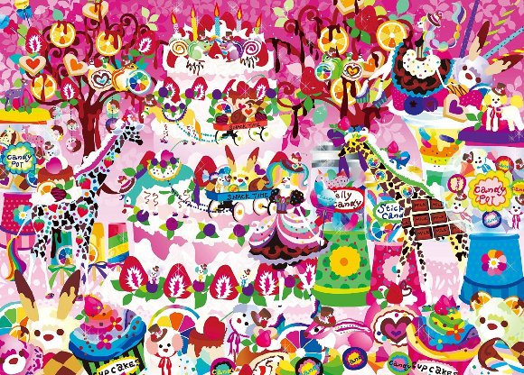 ジグソーパズル 500ピース ホラグチカヨ いつもの景色に甘いデコレーションを(38x53cm)(06-052) エポック社 梱60cm t101