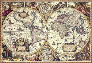 ジグソーパズル 1000ピース 世界地図 アンティーク マップ(49x72cm)(31-457) ビバリー 梱80cm t101