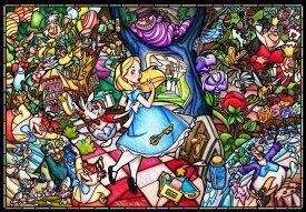【在庫あり】ジグソーパズル 1000ピース ディズニー ふしぎの国のアリス ストーリーステンドグラス(51x73.5cm) (DP-1000-027) テンヨー 梱80cm t100