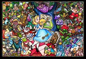 【在庫あり】ジグソーパズル 500ピース ディズニー ふしぎの国のアリス ストーリーステンドグラス ステンドアート ぎゅっとシリーズ スモールピース(25x36cm)(DSG-500-473) テンヨー 梱60cm t103