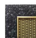 ジグソーパズル専用 パズルフレーム 若冲専用 プレミアムピュアホワイト 1000ピース用 ブラック(51x73.5cm) (-) テン…