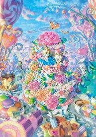 【在庫あり】ジグソーパズル 500ピース ディズニー ふしぎの国のアリス アリス イン スイーツランド ぎゅっとシリーズ ピュアホワイト (25x36cm) (DPG-500-593) テンヨー 梱60cm t100